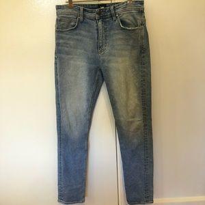 Lee men's tapered slim light wash blue denim jeans